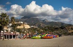 布里亚纳海滩玩具和山 免版税图库摄影