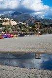 布里亚纳海滩玩具和山 免版税库存照片
