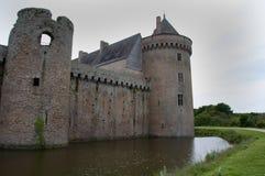 布里坦尼城堡法国suscinio 免版税图库摄影