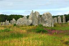 布里坦尼巨石纪念碑 免版税库存照片