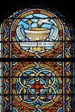 布里坦尼法国玻璃弄脏了视窗 免版税库存图片