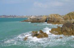 布里坦尼海岸 免版税库存照片