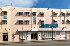 布里季敦,巴巴多斯建筑学,加勒比 免版税图库摄影
