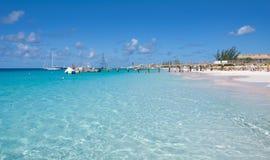 布里季敦,巴巴多斯-热带海岛-加勒比海Brownes海滩-卡来尔海湾 库存照片