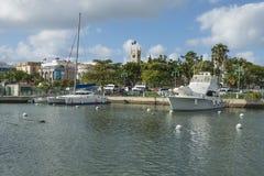 布里季敦,巴巴多斯,在加勒比 库存图片
