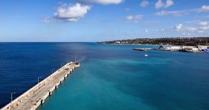 布里季敦,巴巴多斯-巡航港口和码头 免版税库存照片