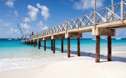 布里季敦,巴巴多斯- Brownes海滩-卡来尔海湾 图库摄影