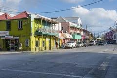 布里季敦巴巴多斯在加勒比 库存照片