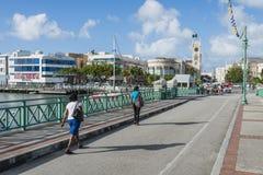 布里季敦巴巴多斯在加勒比 免版税库存照片