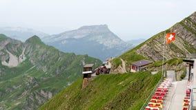 布里恩茨Rothorn铁路-山驻地(2) -瑞士 库存图片