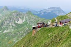 布里恩茨Rothorn铁路-山驻地-瑞士 图库摄影