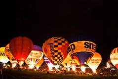 布里斯托尔国际气球节日2012年 库存照片