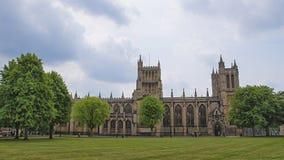 布里斯托尔大教堂在南部的布里斯托尔在英国西部 免版税库存图片