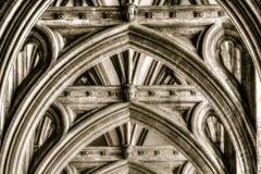 布里斯托尔大教堂曲拱 图库摄影