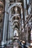 布里斯托尔大教堂走廊 图库摄影