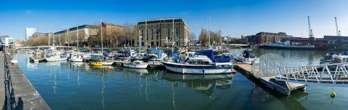 布里斯托尔市中心船坞 免版税库存照片