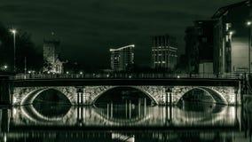 布里斯托尔桥梁在夜之前 免版税库存图片