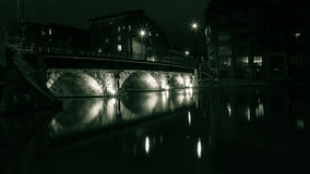 布里斯托尔桥梁在夜C之前 库存图片