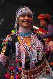 布里斯托尔舞蹈演员节日印地安人 库存照片