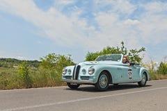 布里斯托尔400 Farina (1949)在Mille Miglia 2014年 免版税库存照片