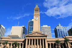 布里斯班历史建筑学澳大利亚香港大会堂博物馆  免版税库存照片