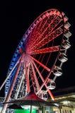 布里斯班弗累斯大转轮轮子在布里斯班` s Southbank的 库存图片