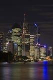 布里斯班横向晚上 免版税图库摄影