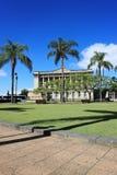 布里斯班,南银行,澳大利亚都市风景在晴朗的明亮的天, 9 库存图片