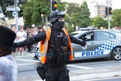 布里斯班,昆士兰,澳大利亚- 2014年10月5日:每年脑子基础蛇神步行2014年10月5日,在伦敦西区,布里斯班, A 库存图片