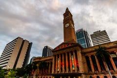 布里斯班,澳大利亚- 2019年 香港大会堂在从乔治Square国王的布里斯班澳大利亚 免版税库存照片