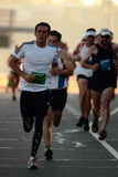 布里斯班,澳大利亚- 9月02 :参加的未认出的赛跑者 库存图片