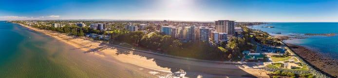 布里斯班, AUS - 2018年5月13日:萨顿的全景空中图象是 图库摄影