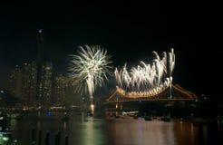 布里斯班Riverfire 2011年 库存照片