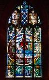布里曼大教堂 窗口,教会,德国内部  免版税库存图片