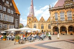 布里曼市在德国 免版税库存照片