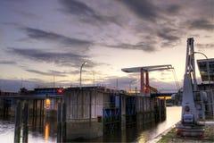 布里曼水坝德国lesumsperrwerk vegesack 图库摄影