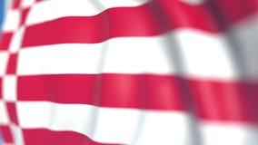 布里曼飞行的旗子,德国的状态 特写镜头,loopable 3D动画 股票录像