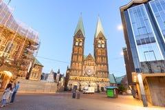 布里曼,德国- 2016年7月19日:游人参观市中心 图库摄影