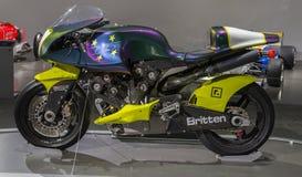 布里顿摩托车 免版税库存照片