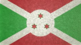 布隆迪的旗子的原始的3D图象 免版税图库摄影