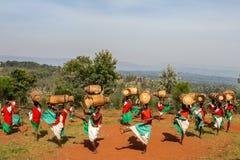 布隆迪的鼓手 免版税库存照片
