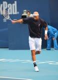 布雷克・詹姆斯球员职业网球美国 免版税库存照片