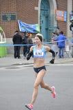 布雷克罗素精华赛跑者NYC马拉松 库存图片