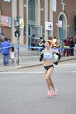 布雷克罗素精华赛跑者NYC马拉松 库存照片
