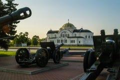 布雷斯特堡垒的纪念复合体在白俄罗斯 库存照片
