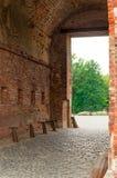 布雷斯特堡垒门  免版税库存照片
