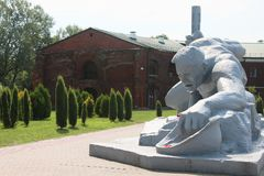 布雷斯特堡垒,雕塑干渴,白俄罗斯 免版税图库摄影