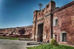 布雷斯特堡垒, Kholm门 布雷斯特,白俄罗斯 库存照片