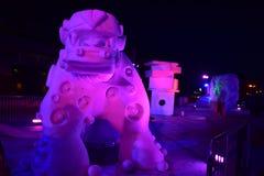 布雷肯里奇,科罗拉多,美国:2018年1月28日:culture de la aguada从队阿根廷的雪雕 免版税图库摄影