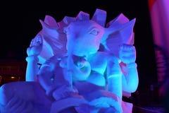 布雷肯里奇,科罗拉多,美国:2018年1月28日:Ganesha Night阁下雪雕冠军2018年 图库摄影